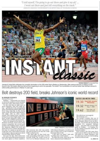 Aug. 21, 2008 -- Usain Bolt