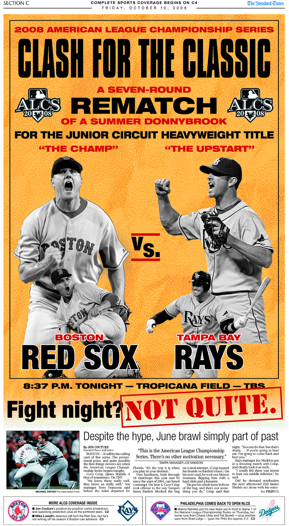"Oct. 10, 2008 -- ""Clash for the Classic"" ALCS Preview (Writing & Design)"