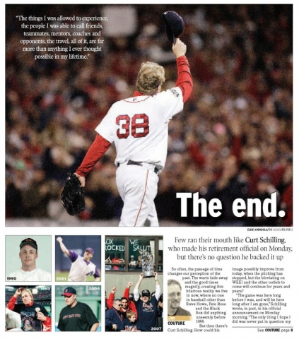 March 24, 2009 -- Curt Schilling Retires (Writing & Design)
