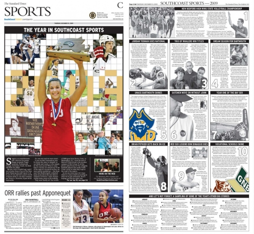Dec. 31, 2009 -- SouthCoast Sports Year-End Review (Writing & Design)