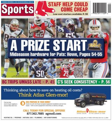 """Nov. 5, 2012 -- The Patriots """"Blitzys"""""""