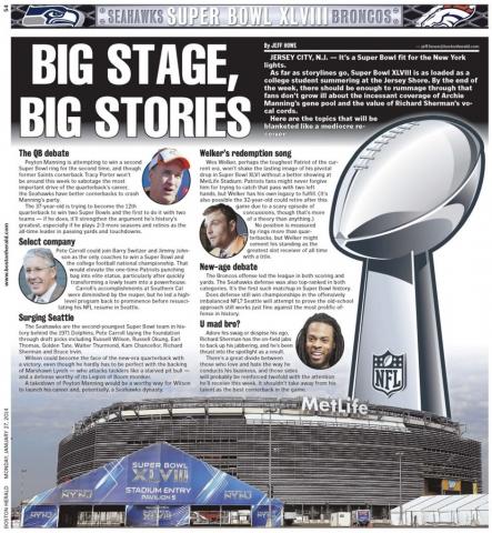 Jan. 27, 2014 -- Super Bowl XLVIII Preview