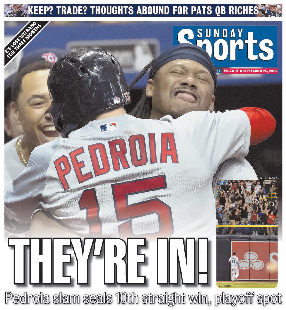Sept. 25, 2016 -- Red Sox Clinch Postseason Spot